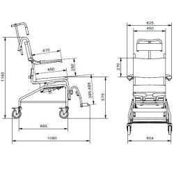 Linido Tilting Shower and Toilet Chair :: Sports Supports